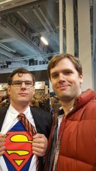 Clark Kent/Superman and Marty McFly by EgonEagle