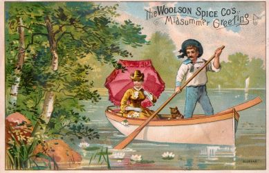 Victorian Advertising - Midsummer Flowers by Yesterdays-Paper