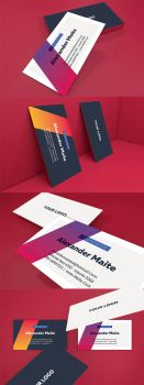 Gradient Business Card Template by luuqas