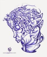 Ballpoint illustration. by jopelines