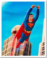Superman Soars  GICLEE PRINT by DESPOP