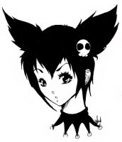 Kuromi .::Inked::. by smexy-ninja