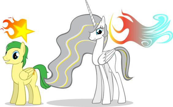 Blazing Star and Mariah Blaze [Com.] by DarkLight02