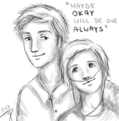 The Fault in Our Stars sketch by NothingButTheWorld