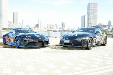 Toyota supra GR Production and Racecar by NightmareRacer85