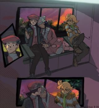 Train Ride by diichan
