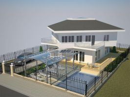 3D Architecture house by YovoYovchev
