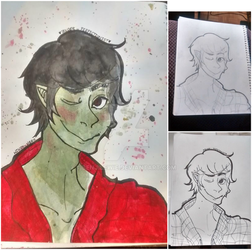 Marshall lee drawing for start to finish by Benjilewie