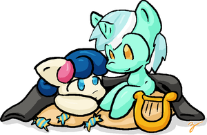 Lil' Lyra and Bonbon by Zutcha