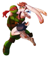 Raph and Tokki by CutieClovers