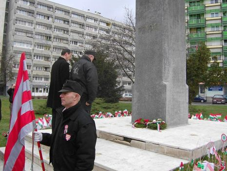 The JOBBIK and the Guard during a wreath-laying by Wakko2010