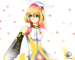Kagamine Rin APPEND by ArtisticKittyKat