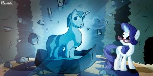 Rarity and Tom by Realider