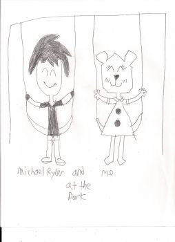 Micheal Ryder and me at the park. by Teri-plz