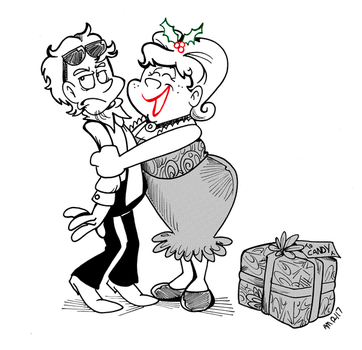 Commission: Xmas hugs by Granitoons