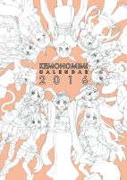 calendar 2016 cover lines by PastelCake