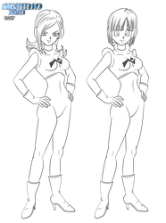 [lineart] Galactic Patrol girl for tepheris by Naruttebayo67