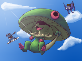 Skydiving Club by Tekameito