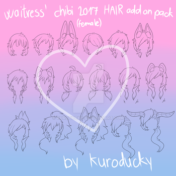 Chibi2017 Outfit Maker Hair ADD ON PACK by kuroducky