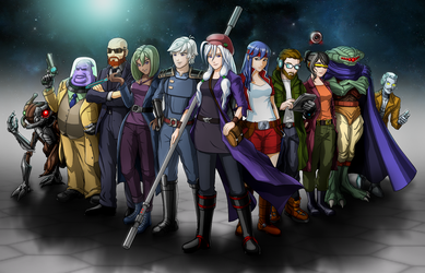 Cosmic Star Heroine - playable characters by slash000
