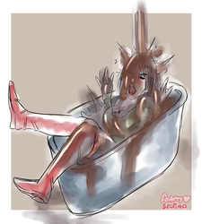 Regina completely humiliated in the tub [Scatina] by Scatina