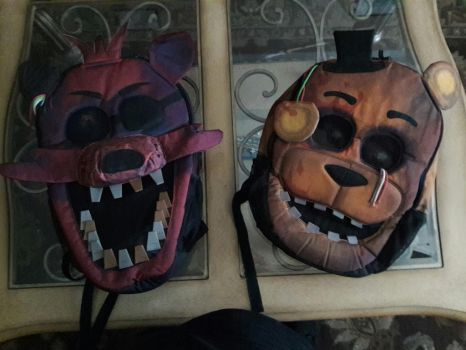 Five Nights at Freddy's backpacks by Chrismilesprower