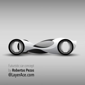 Retro Futuristic Vector Car Concept by Roberis