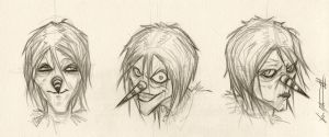 Expressions of Laughing Jack Creepypasta by ChrisOzFulton
