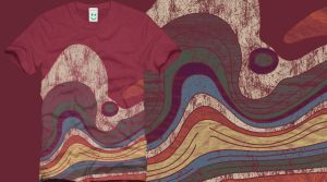 Stratigraphy tee shirt by Serensdipity