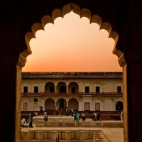 Sunset Agra Fort by AndrewToPhotography