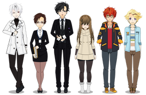Mystic Messenger Characters Update by HairBlue