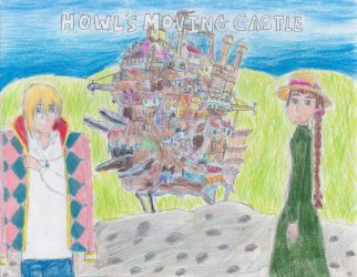 Howl's (Colorful) Moving Castle by CelestialSeraphine