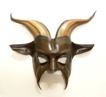 Goat Mask in brown black tan by teonova