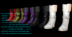 lulirine + sims4 shoes pack 2 for DL by LULIRINE