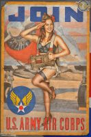 Propaganda Pinups - Join the US Army Air Corps by warbirdphotographer