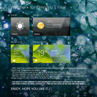 Weather+ for Omnimo 5 Final (Rainmeter) by wifun2012