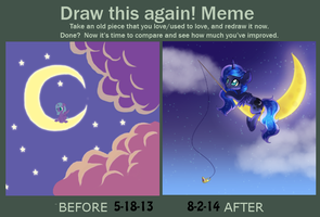 Draw this Again Meme - Luna and her Moon by Rue-Willings