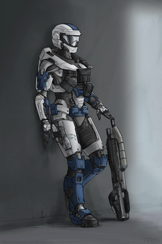 Spartan Jesse 2 (Commission) by The-Chronothaur
