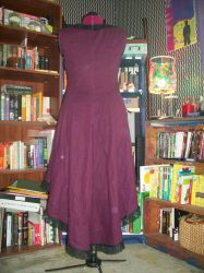 Plum Dress Back by Nerds-and-Corsets
