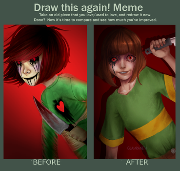 Draw This Again - Chara ( Undertale ) by Glamra