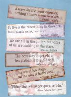 Oscar Wilde Quotes Bookmarks by WildeGeeks