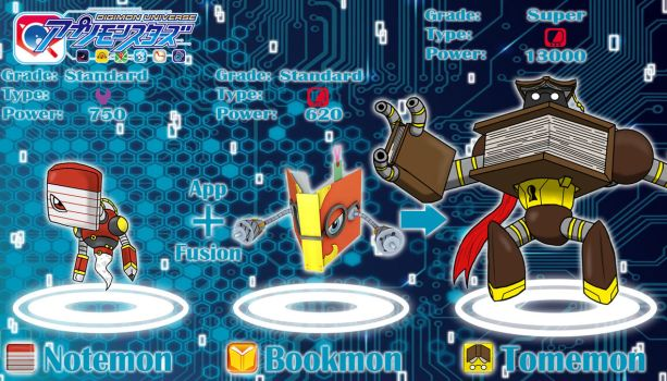 Notemon + Bookmon App Fusion by Omnimon1996