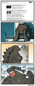 Comic: Fat Godzilla by nakanoart