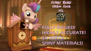 [SFM/MLP][DL] Flurry Heart Cuckoo Clock by RenderPoint