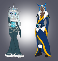 Adopt: Snow King and Queen Open by ChaoticallyKhaos