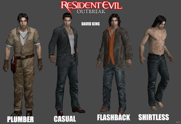 The different costumes of David. SurvivalHorrorXNA by Tyrant0400Tp