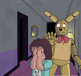 (Springtrap and Deliah) Vile monster by Little-Balloonicorn