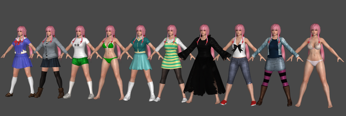 Yuno Outfits Progress by TheRaiderInside