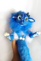 Handmade poseable Blueberry Dragon SOLD by KaypeaCreations