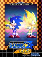 Sonic 2 HD (Sonic Fangame Boxart) by RollingTombstone